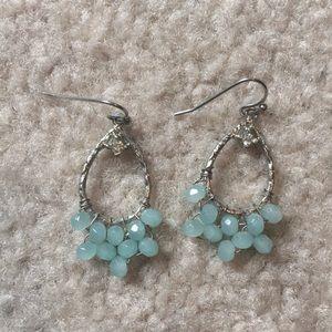 J Crew Light Blue Drop Earrings